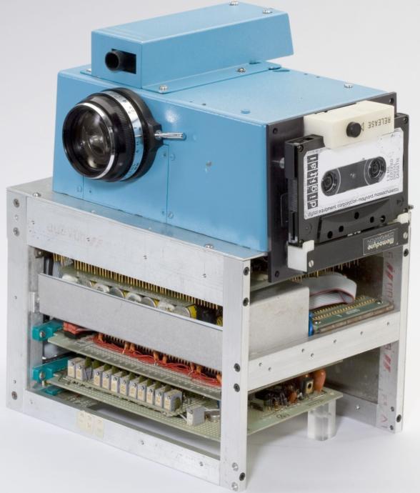 The original Kodak digital camera, imagine taking a selfie with that thing!