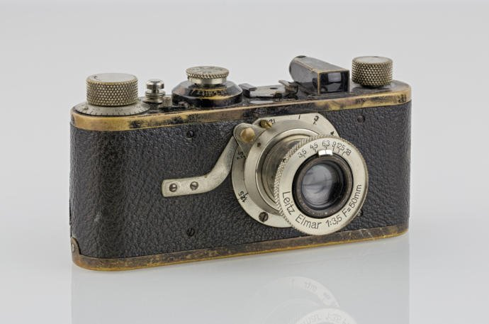 An early Leica, the first commercially available 35mm cameras