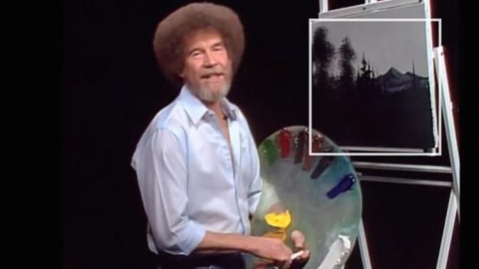 Great people in American Culture. Happy little Trees: Some Happy Little facts about Bob Ross