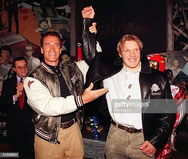 Arnold Schwarzenegger and Herman Maier