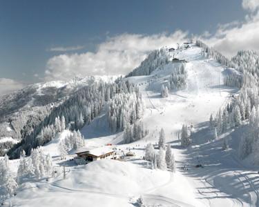 The skiing area of Flachau