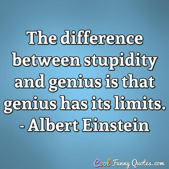 Stupidity never quits