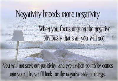 Dont spread negativity, it can be contagious