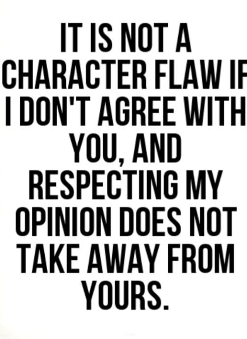Politely agree to disagree