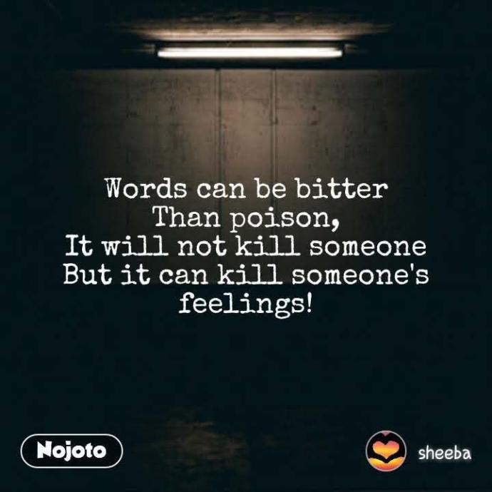 Words kill credibility