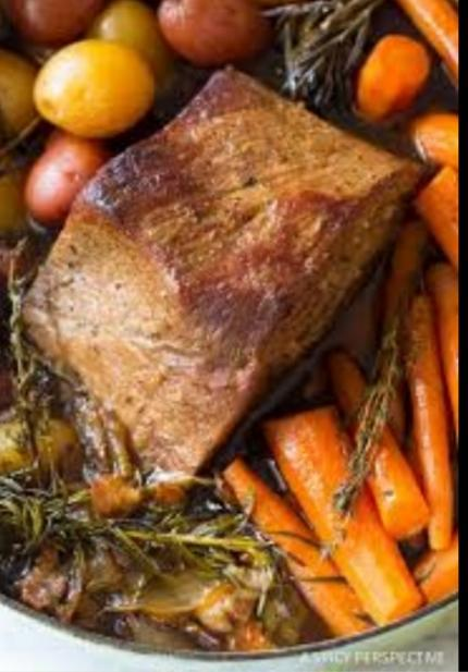 Pot Roast with carrots and potatoes