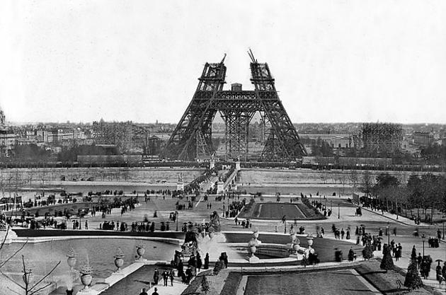 Eiffel Tower being built, 1887-1889, for Exposition Universelle