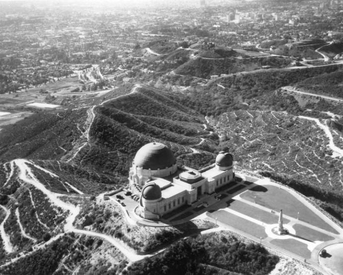 Griffith Observatory, 1935 aerial