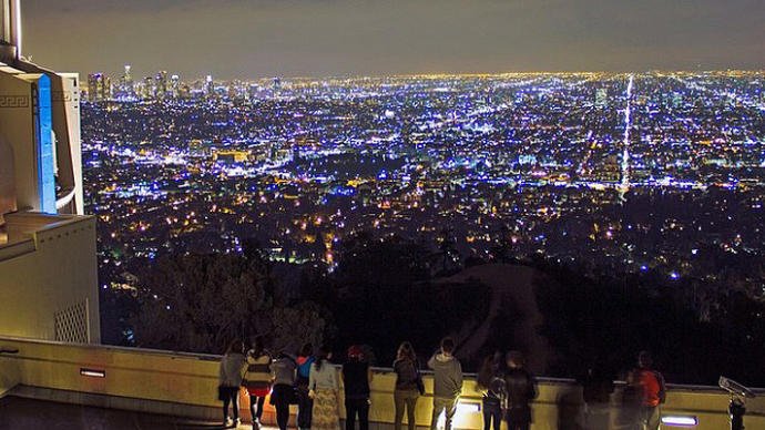 Los Angeles skyline today, from The Griffith Observatory