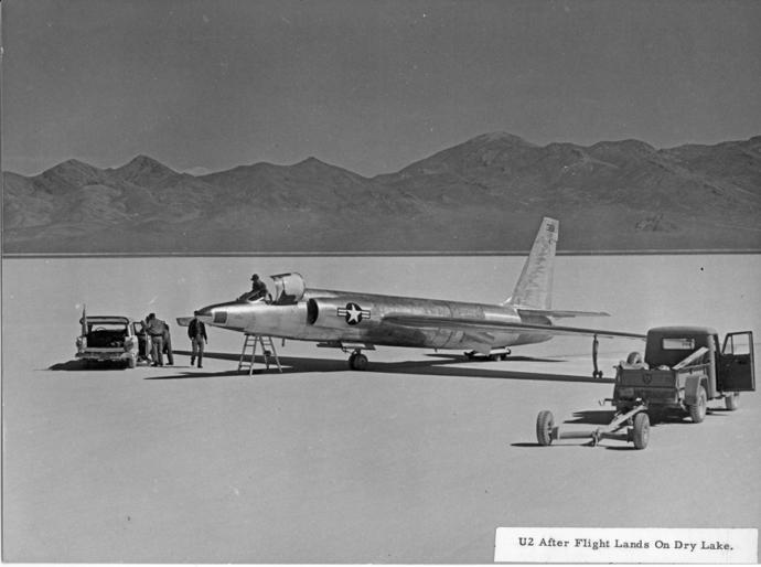 U2 plane at Groom Lake Area 51.