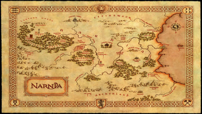 Map of Fictional Narnia