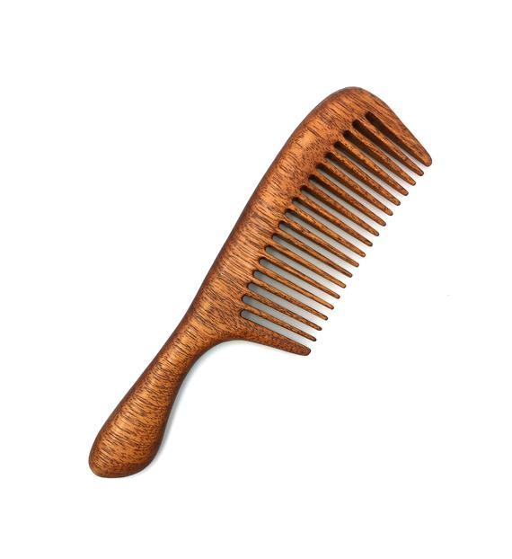 Use a wooden wide tooth Comb