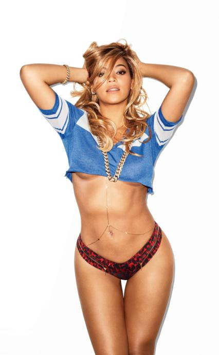 Beyonce, another slender woman with curves.