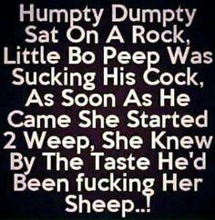 Adult Nursery Rhymes that would make your mother faint …no, I'M NOT KIDDING! …lol (adult humor)