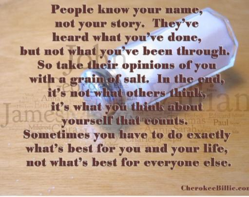 Noone knows you better than you