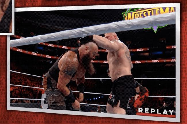 Brock Lesnar punches Braun Strowman for real