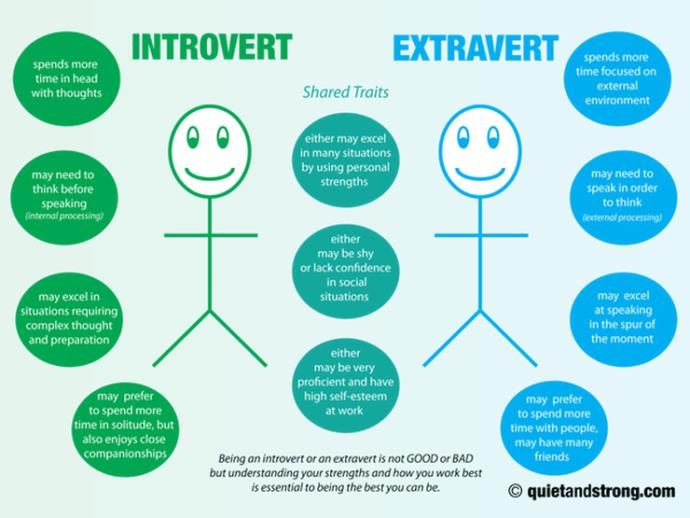 Just because you're an introvert doesn't mean you get to handle situations with immaturity.