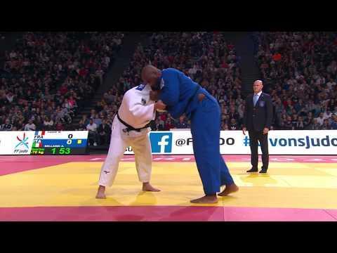 Still of Kokoro Kageura vs Teddy Riner at Paris grand slam