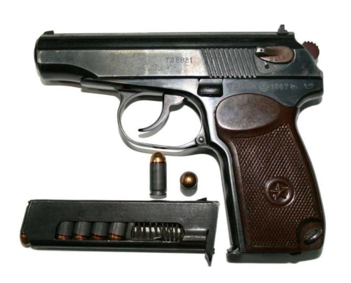 Makarov pistol.
