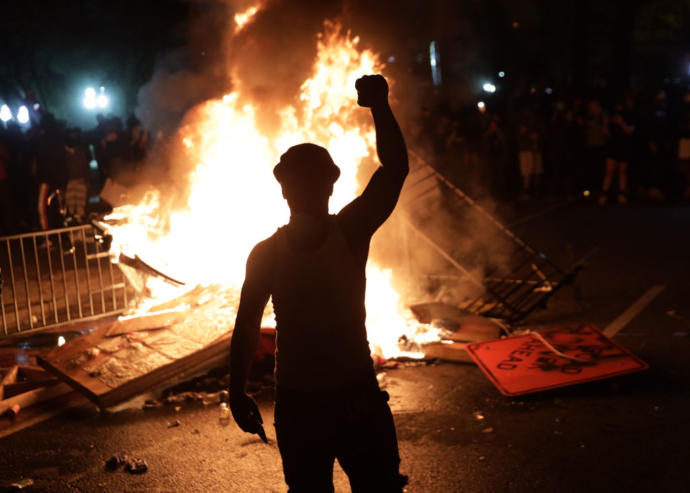 """What people call """"peaceful protesting"""""""
