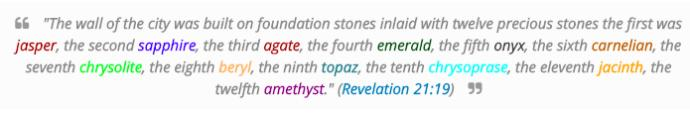 MyTake on the 12 Stones of Revelation in KJV 21:19-20 - Bible Talk