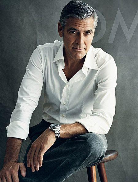 Classically handsome George Clooney