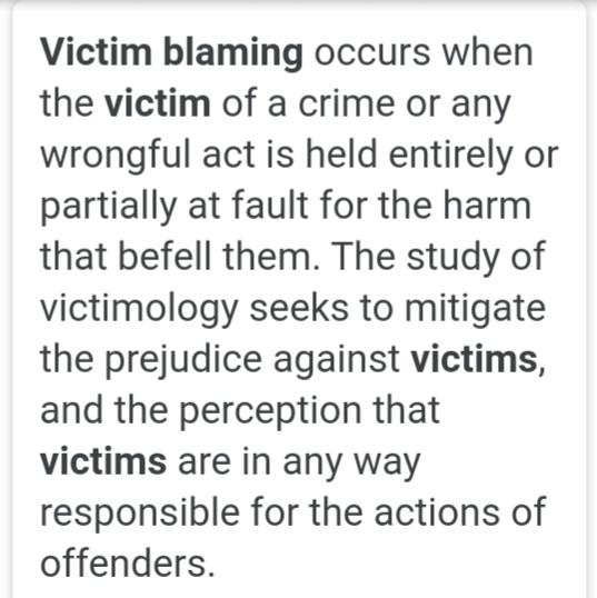 Victim Blaming Why Do Some People Have This Blame The Victim Mindset?