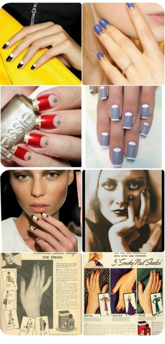 Ladies would you do a retro lunar manicures from the 1920/40s now known as half moon nails? A little nail polish history.