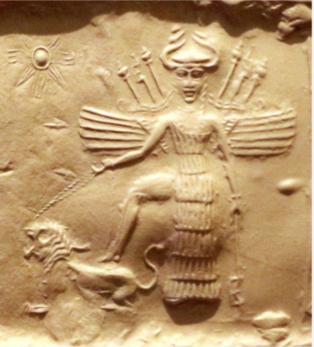 Goddess of fertility and femininity Inanna seduces in order to get her way