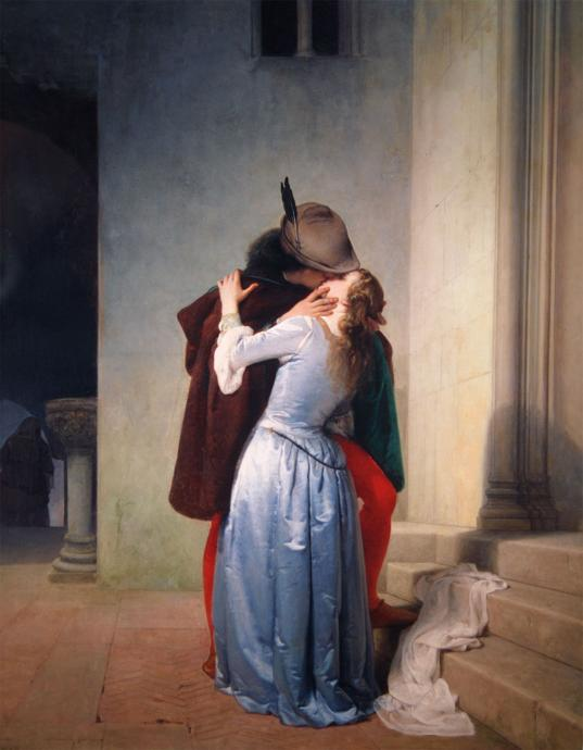Reproduction of the kiss by Francesco Paolo Hayez