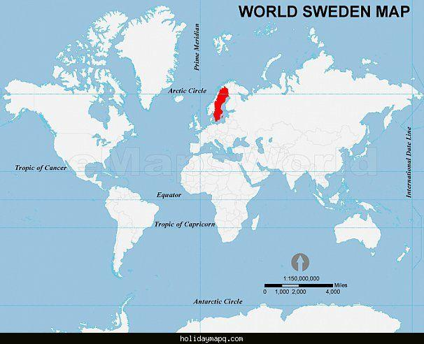Sweden on world map