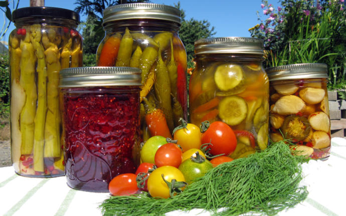 More canned and preserved vegetables from the years harvest