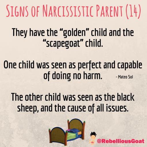 10 signs of a naracisstic parent