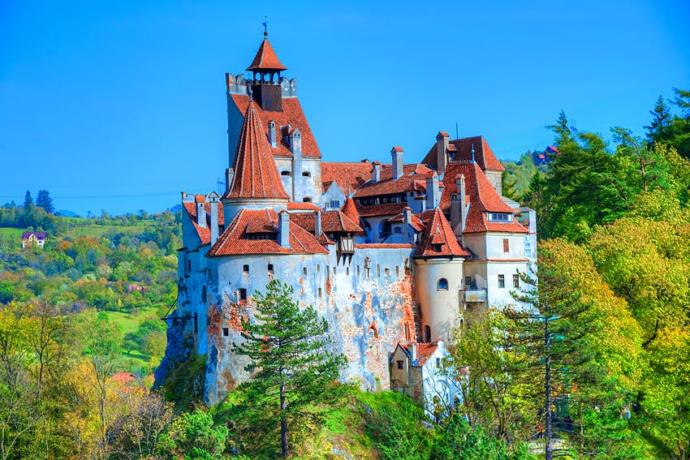 The castle of Count Dracula in Transylvania. Was Biden and his son invited to stay there following their trips to the Ukraine?