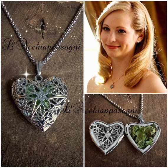 Heart Locket Necklace especially for Vervain which repels Vampires!