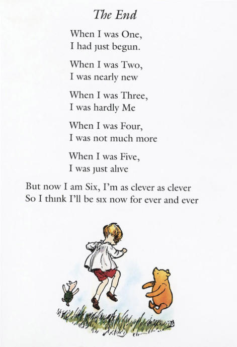 Now We Are Six is a book of 35 childrens verses by A. A. Milne