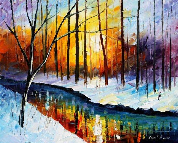 Leonid Afremov, Frozen Stream