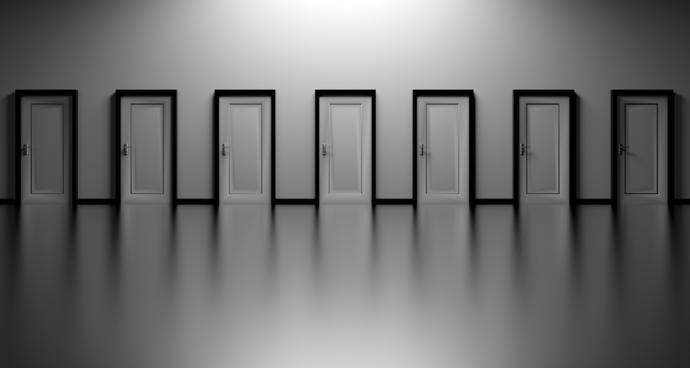 You might know the consequences behind the door but making a choice is necessary to move forward.