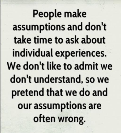 Ditch The Double Standards.. Be Gone With Bias... Dont Alienate With Assumptions...