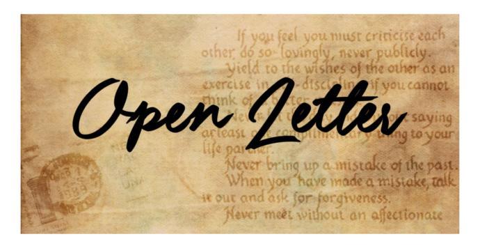 An open letter to my boyfriend!