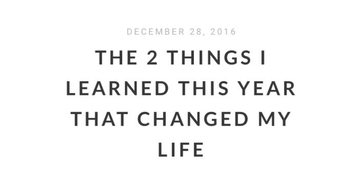 Two things I learned Over the Holidays about God