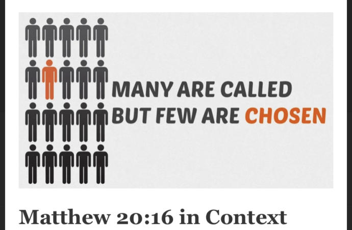 """How I understand the verse """"Many called but few are chosen"""""""