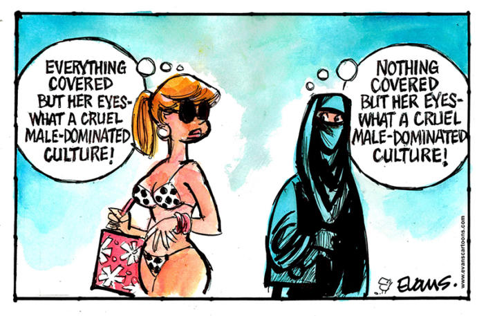 Just a fun exaggerated perspective on cultural clashes!  😄