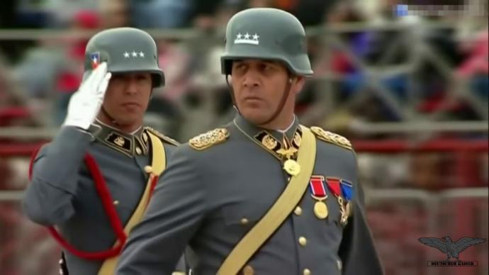 Chilean Army wearing stahlhelms