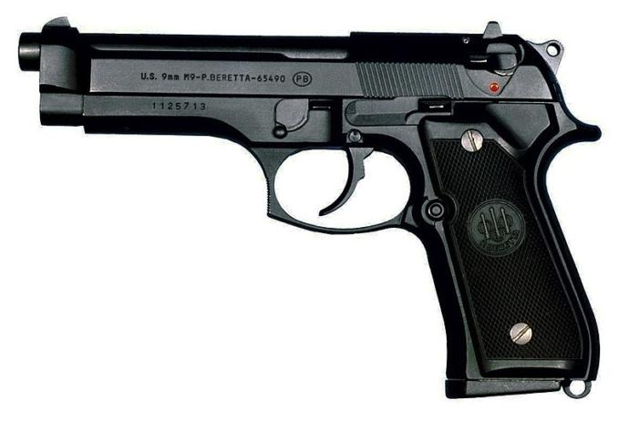 M9 pistol incorporates both German and Italian aesthetics.