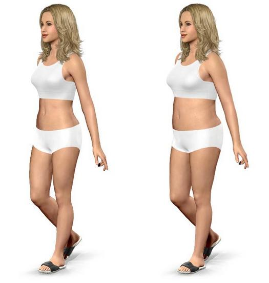 50th Percentile BMI-Left, Reality-Right