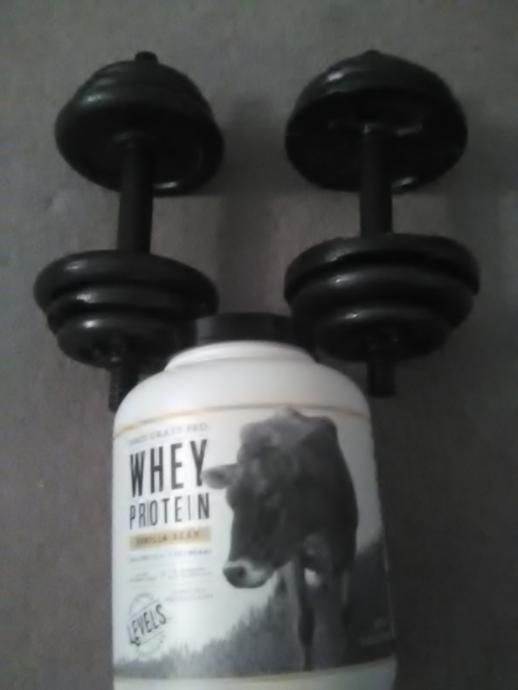 33 lb dumbbells and my Daily Breakfast