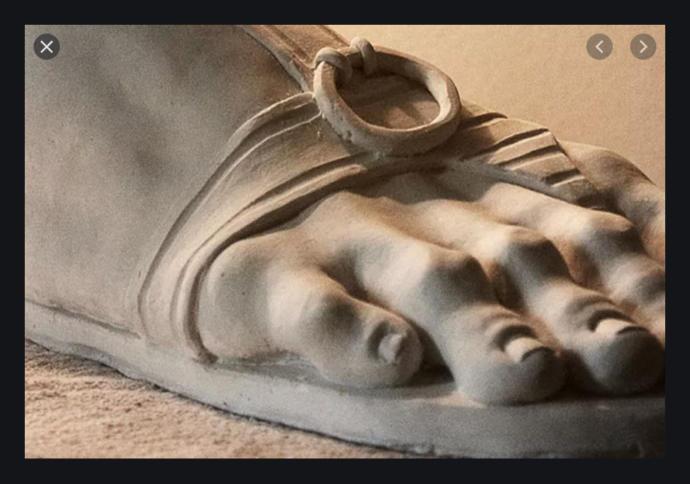 Roman foot sculpture