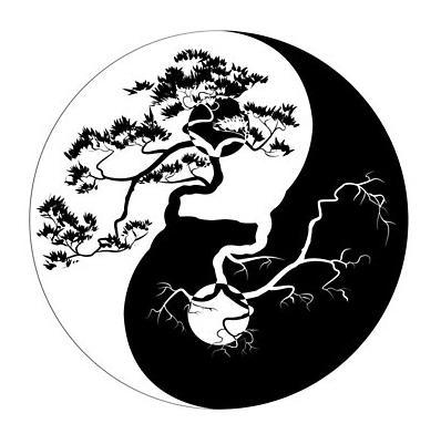 Yin yang Boho Trees by MagneticMama