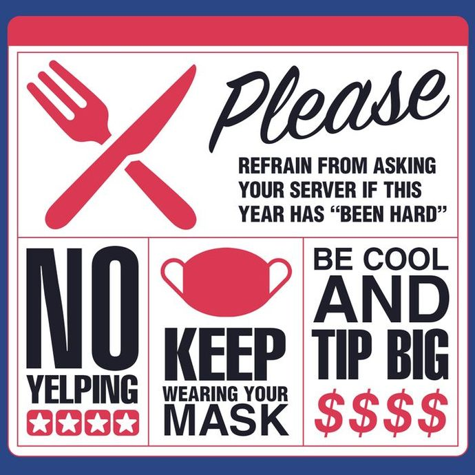 Please, Be patient with restaurant workers.